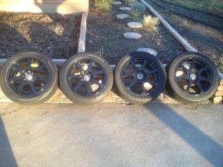 15 16 inch Wheels Tires Black Drag Falken Great Condition MR2 Spyder