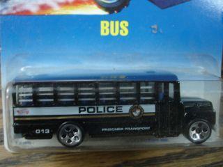 Hot Wheels Police Prisoner Transport Bus  # 72  Vintage 1992