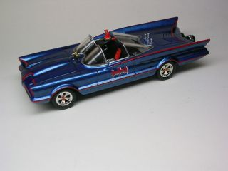 Hot Wheels 1 50 Scale 1966 Batmobile with Custom Decals and Paint