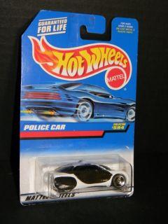 1998 Hot Wheels Police Car Collector 594 Black MOC