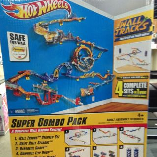 Hot Wheels Wall Tracks Super Combo Pack Complete Wall Racing System