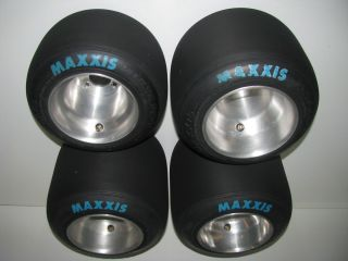 Set of Maxxis HT3 Racing Go Kart Tires Wheels