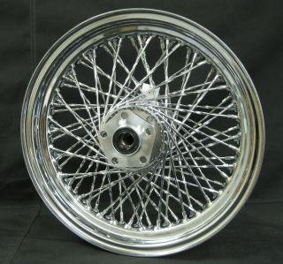 Chrome Ultima 80 Spoke Twisted 16x3 0 Rear Wheel for 1984 1999 Harley