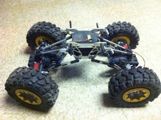 SPIDER 1 8 ROCK CRAWLER W RC4WD ROCK CRUSHER TIRES ALUMINUM WHEELS
