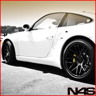 Carrera Turbo 4S GT3 Vertini Magic Black Concave Rims Wheels