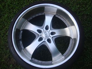 EXE Wheel Tire Package 20 Flair Deep Dish Rims Wheels