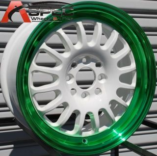 15 Rota Track R Wheels Tires Fits 4 Lug Honda Civic CRX Integra Fit