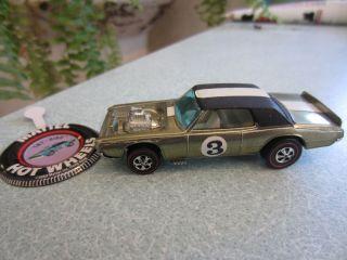 RARE 1969 Redline Hot Wheels TNT Bird Metallic Gold Minty