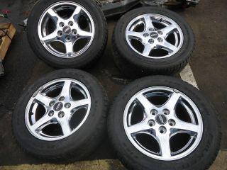 82 02 Firebird Camaro 16 Chrome 5 spoke OEM Factory Wheels Rims Tires