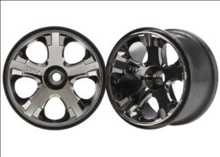 Traxxas All Star Black Chrome Wheels Front Jato 5577A