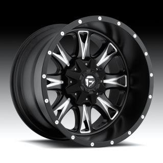 20 Fuel Offroad Throttle 20x12 Black 20 Fuel Deep Lip Series