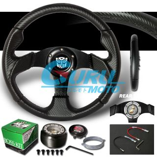 Transformer 88 91 Mirage 00 05 Eclipse Carbon Black Steering Wheel Hub