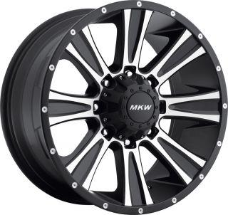 MKW M87 Wheels Machined Chrome 17 20 5 Lug 6 Lug 8 Lug Dodge 1500 2500