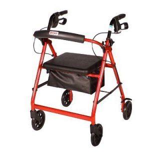 Aluminum Rollator Rolling Walker Folding Seat Wheels R