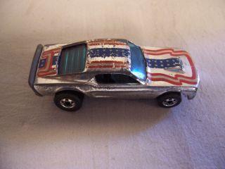 1974 Hot Wheels Redline Mustang Stocker Chrome Patriotic