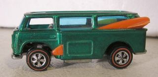 Vintage Redline Hot Wheels Volkswagen Beach Bomb Green