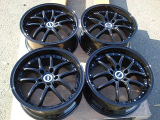 18 Black Wheels Rims 5x114 3 Dodge Caravan Ford Crown Victoria Escape