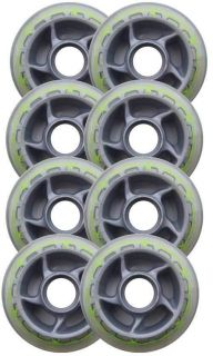 Barbed Wire 80mm 78A Roller Inline Skate Wheels 8 Pack
