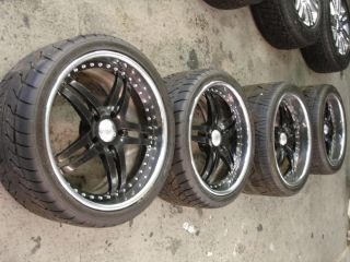 C6 Corvette Z06 Black Wheels with Nitto Tires