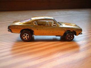 Hot Wheels 1967 Gold Custom Barracuda Original Redline