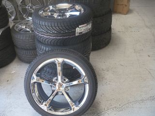 Corvette Chrome Wheels Tires 88 89 90 91 92 93 94 95 96 C5