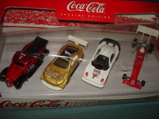 Coke Coca Cola Race Team Cars 4 Hot Wheels New Gift Collector Set 99