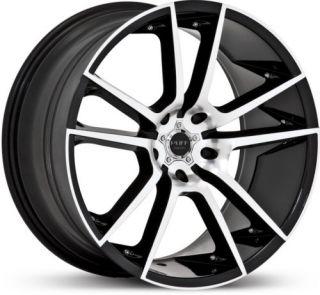 20 x10 Ruff Racing R945 Black Machined Wheels Rims