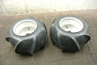 1989 89 Yamaha Banshee YFZ350 YFZ 350 Rear Wheel Set Rims Tires Wheels