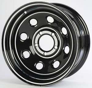 Products 671124 Baja 8 Black Steel Wheels 15 x 10 6 5 5 New