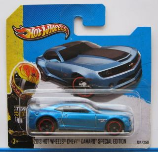 Hot Wheels Showroom 194 2013 Chevy Camaro Special Edition Metal Blue