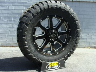 18 Gear Alloy 726MB Wheels 33x12 50R18 33 Toyo Open Country MT Tires