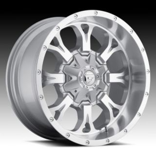 17x9 Krank XD 17 inch Chevy Ford Dodge Silver Wheels Rims Set