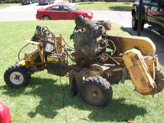 Super Jr Stump Grinder 25 hp Kohler VIDEO dual wheels EXTRA ENGINE