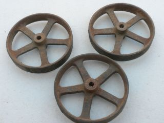 Antique Cast Iron Wheels 2 3 4 for Antique Toy Tractor