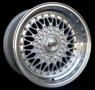 15x8 15 RS Wheels 5x100 ESM 002R VW Subaru Scion Toyota Eagle Geo