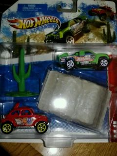 HOT WHEELS RACING KITS OFF ROAD BAJA VW VOLKSWAGEN BUG OFF TRACK GREEN