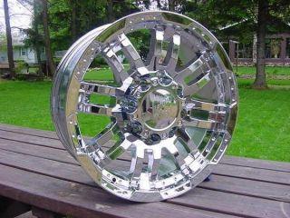 17x8 5 Chrome Vison Wheels 375 Ford F150 97 98 99 2000 01 02 03 5 on