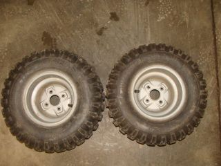 90 Fourtrax 98 99 01 02 8 ATV Rear Wheels Rims Tires ITP EX