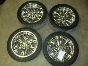 American Racing 20x8 1 2 Wheels Rims w Tires Set 4