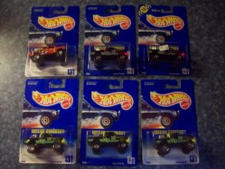 Hot Wheels 1990 91 Number 131 6 Different Variations Nissan Hardbody