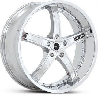 22 inch Ruff Racing 953 Staggered Chrome Wheels 5x115