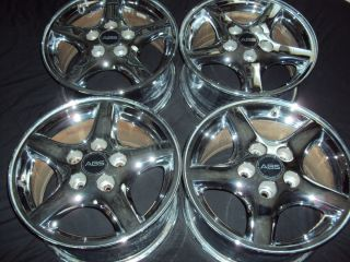 OEM Pontiac Firebird chrome wheels rims factory Trans Am Camaro 93 02