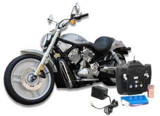 Radio Remote Control Motorcycle Harley Style Super RC Rubber Wheels