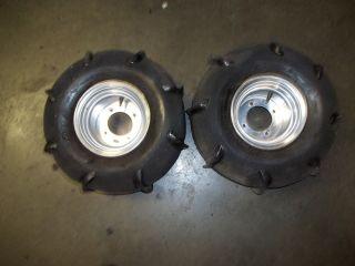97 Yamaha Banshee 350 Rear Wheels Rims Tires Paddles