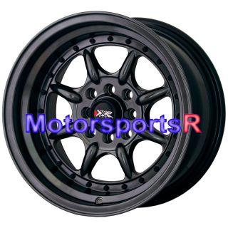 002 C Black Wheels Rims Deep Step Lip Stance 4x100 98 Honda Civic SI