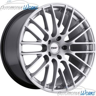 18x8 5 TSW Max 5x100 35mm Hyper Silver Rims Wheels inch 18