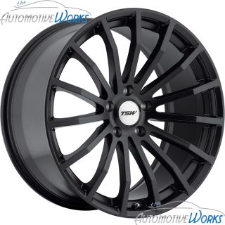 17x8 TSW Mallory 5x100 35mm Matte Black Rims Wheels inch 17