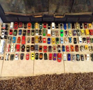 Huge Lot Of 111 Die cast Cars Hot Wheels Maistro Matchbox Bus Monster