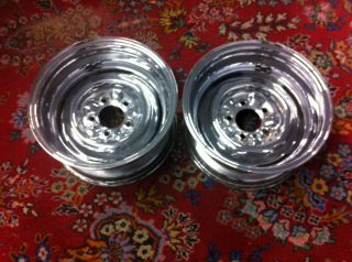 15x7 Chrome Steel Wheels Gasser