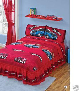 New Hot Wheels Bedspread Bedding Set Twin 4 Pcs
